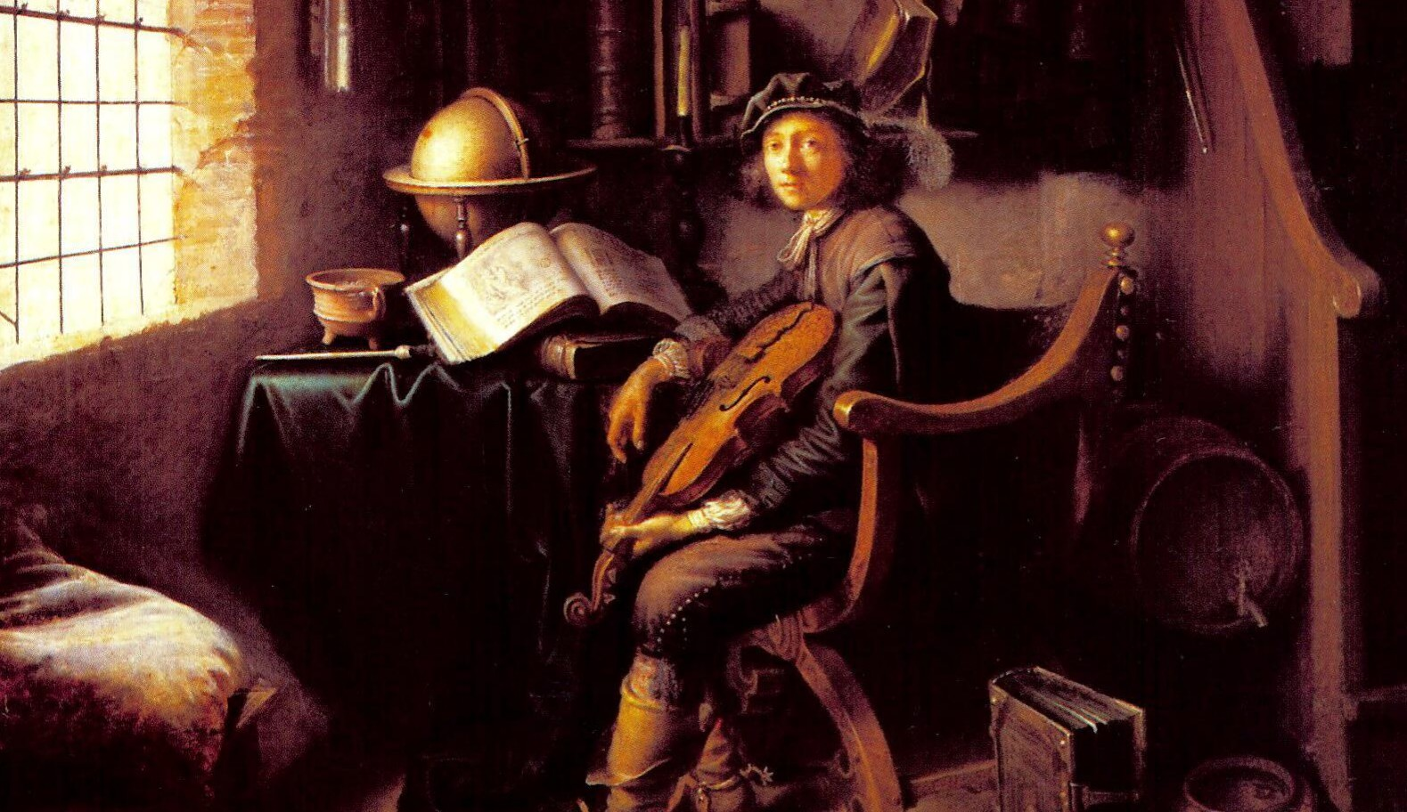 Gerrit_Dou_-_Young_violinist_sitting_in_his_study_room
